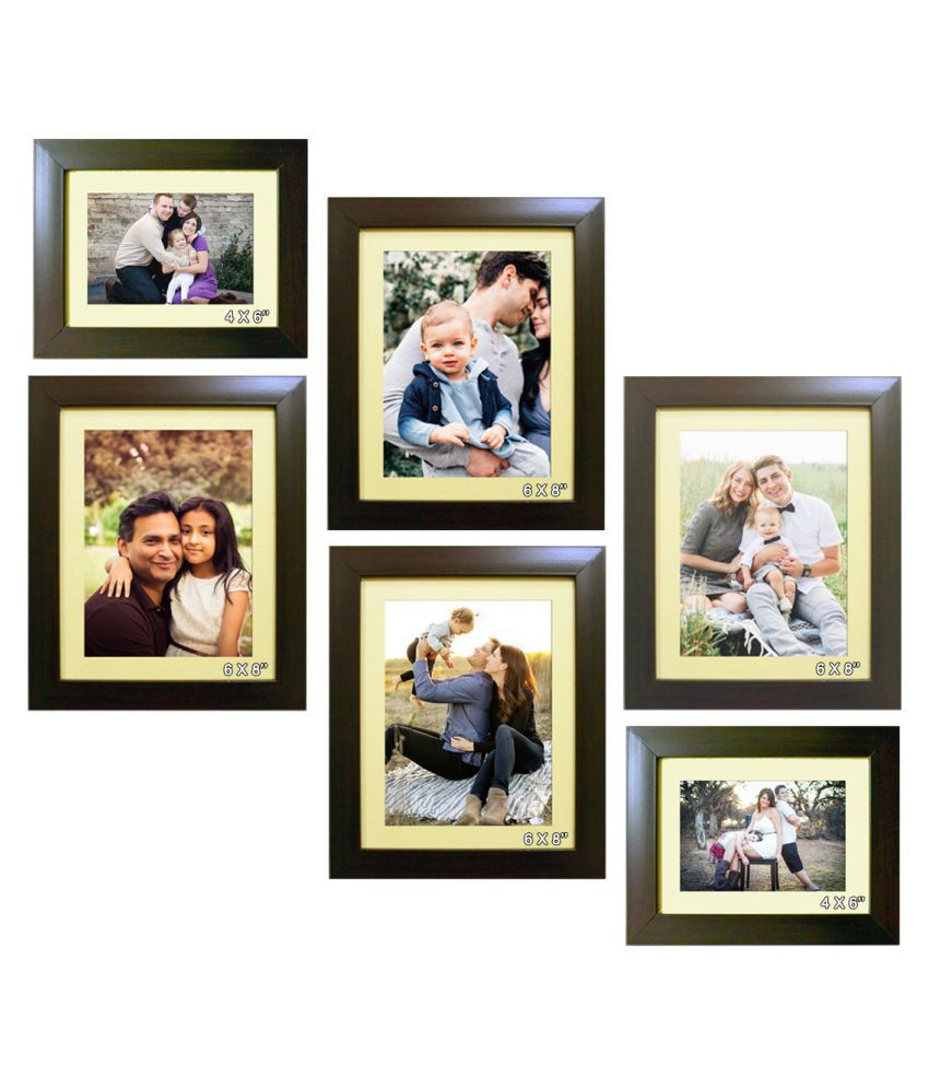 Trends on Wall Acrylic Brown Photo Frame Sets - Pack of 6