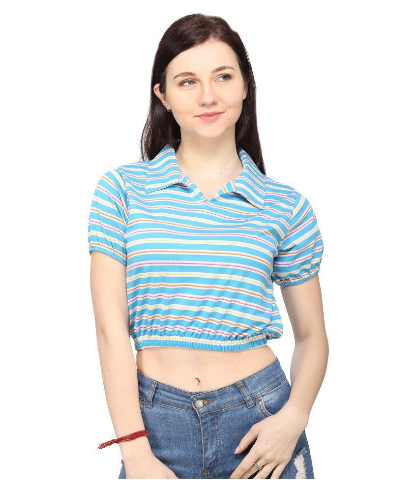Ess Emm Clothing Cotton Blue Polos
