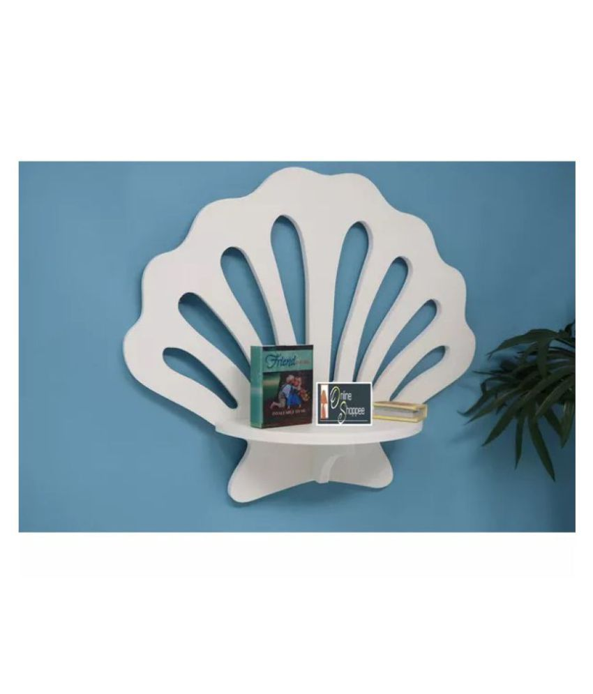 Onlineshoppee Wooden Decorative Floating Wall Shelf