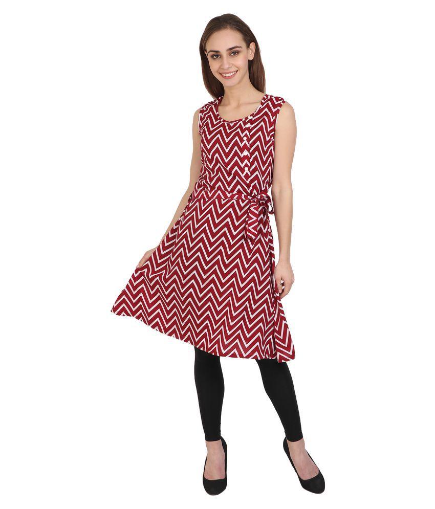Vaijyanti Pink Crepe A-line Kurti