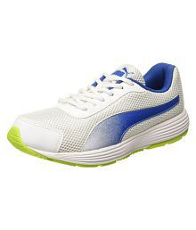 quality design b0fb0 84b64 Quick View. Puma Aeden White Running Shoes