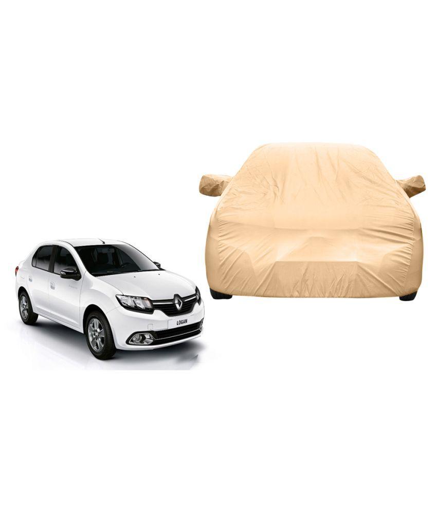 Alexus Car Cover for Renault Logan (Mirror Pockets) (Beige)
