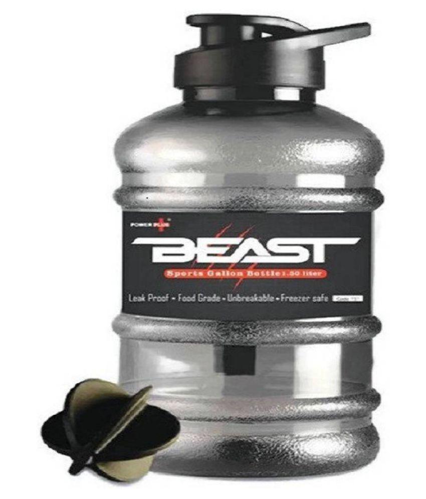 Beast Gallon Shaker Bottle 1.5 Litre  Pack of 1 1500 ml Shaker  Pack of 1, Black