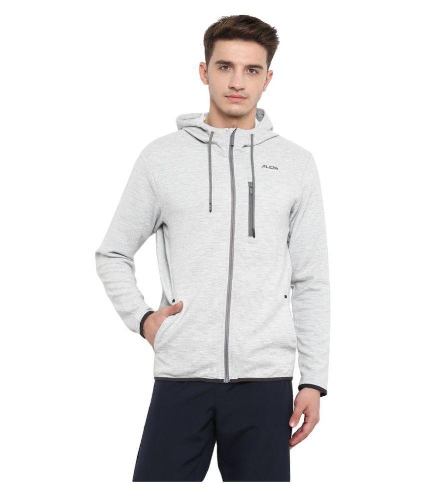 Alcis Grey Polyester Terry Sweatshirt Single Pack