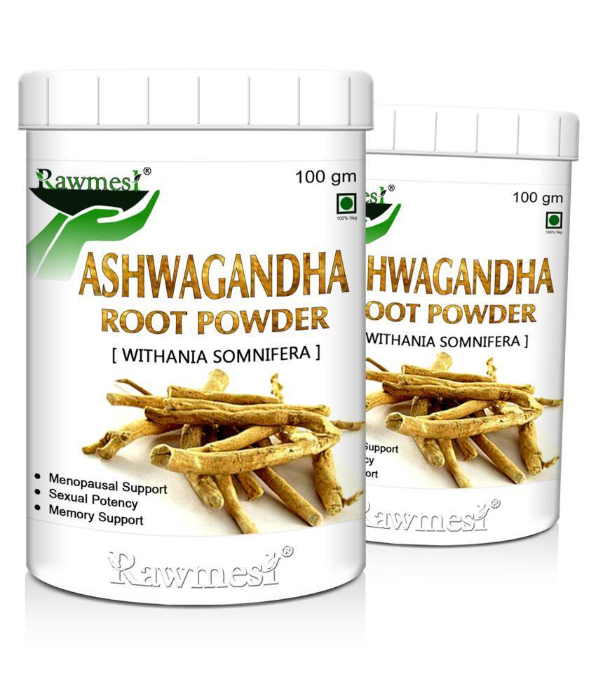 rawmest Organic Ashwagandha Pack of 2 Powder 200 gm