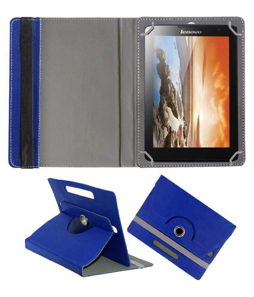 Lenovo A8-50 A5500 Flip Cover By FASTWAY Blue