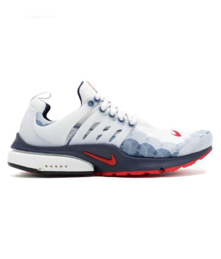 de múltiples fines Despertar flota  Nike Air Presto USA White Running Shoes - Buy Nike Air Presto USA White  Running Shoes Online at Best Prices in India on Snapdeal