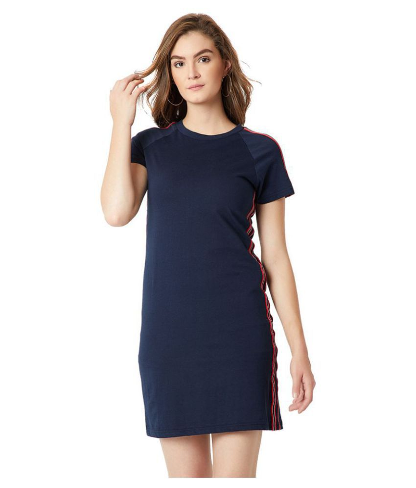 Miss Chase Cotton Navy Regular Dress