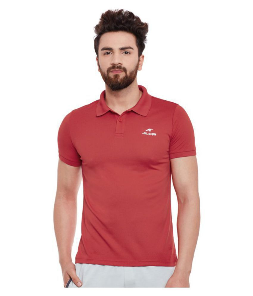 Alcis Red Polyester Polo T-Shirt Single Pack