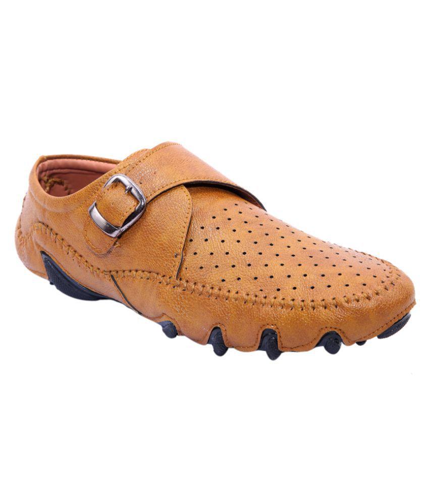 BEST SHOE FORWARD Tan Loafers