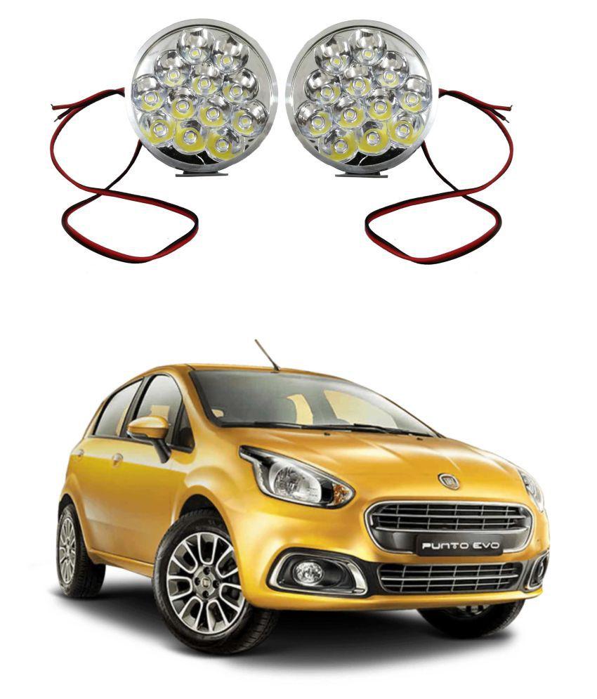 Trigcars Fiat Punto Evo LED Fog Lamp + Free Car Bluetooth