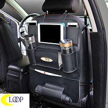 Loop Multi Pocket Organizer for Rear Black