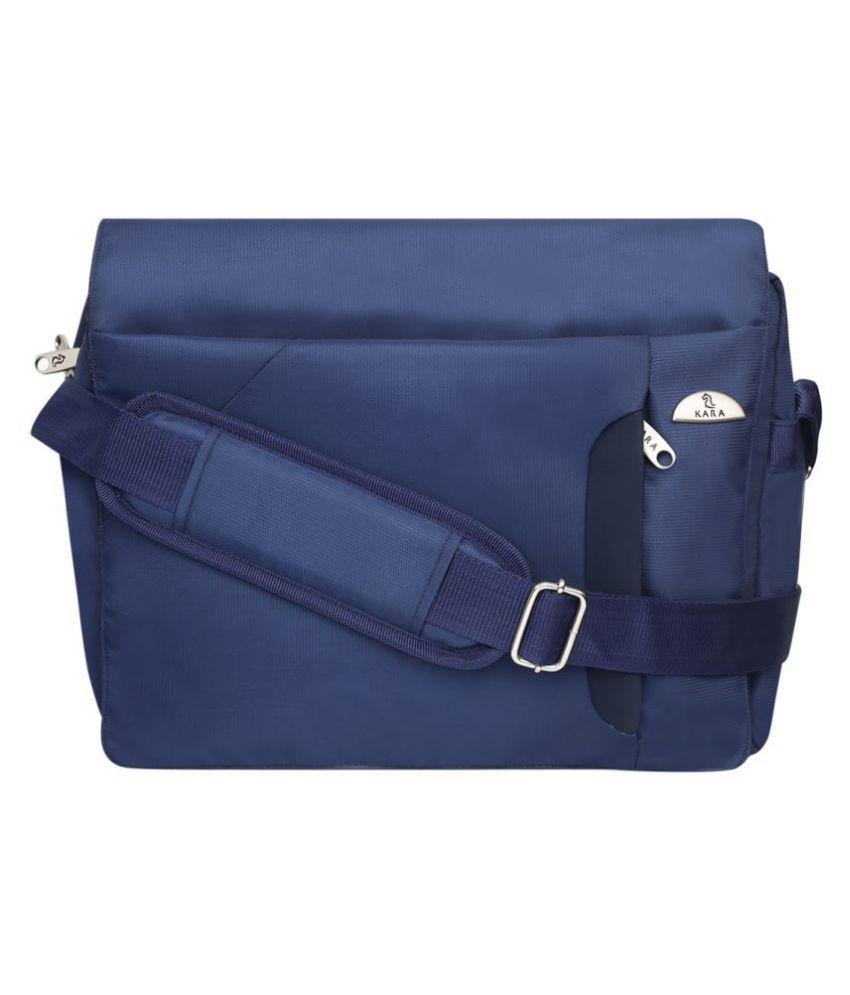 Kara Blue Nylon Casual Messenger Bag