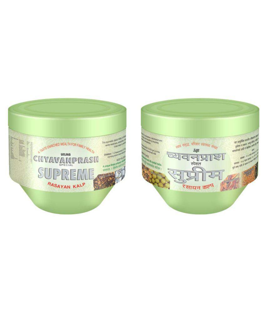 unjha Special Supreme Rasayan Chyawanprash Paste 425 gm Pack Of 2