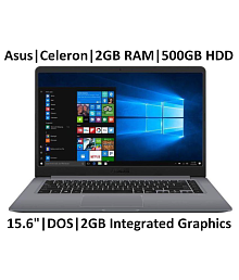 ASUS E203MAH-FD004T (Gray) - Celeron Dual Core N4000 2X.1Ghz, 2GB Ram, 500GB HDD, Windows 10 Home