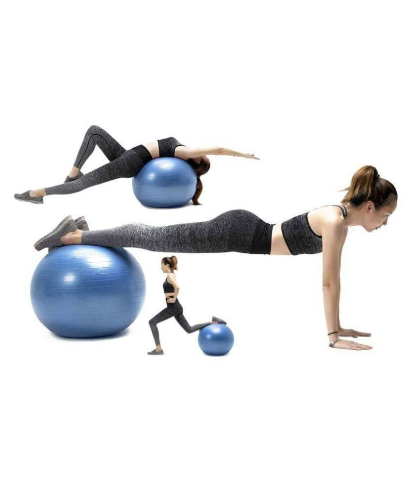 House of Quirk 65cm Gym Exercise Ball for Fitness, Stability, Gym, Balance & Yoga, Yoga Ball Chair, Balance Ball-with Pump