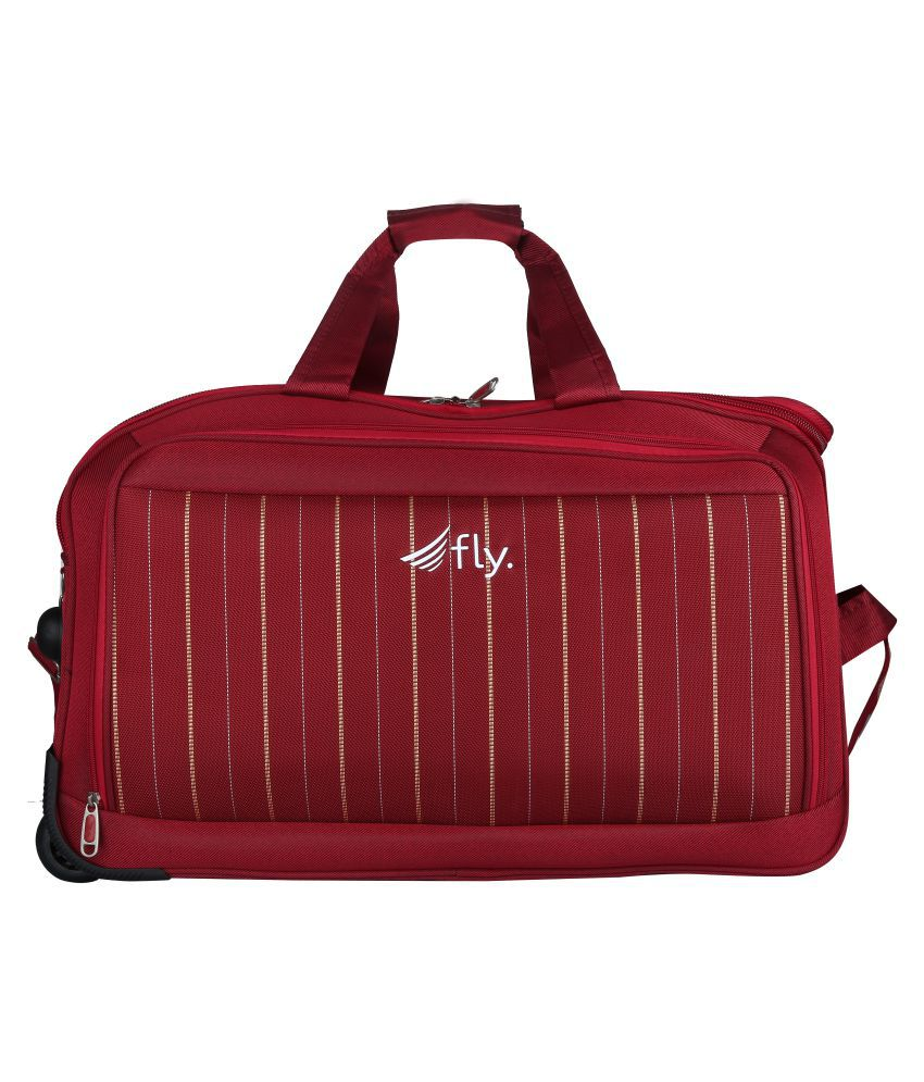 Fly Red Solid L Duffle Bag