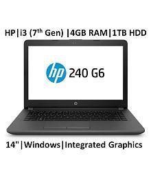 HP 240 Core i3 7th Gen ( 4GB / 1TB / Windows 10 / Integrated Graphics ), G6 Laptop (14-inch,Grey, 2.9 Kg) (5LR09PA)
