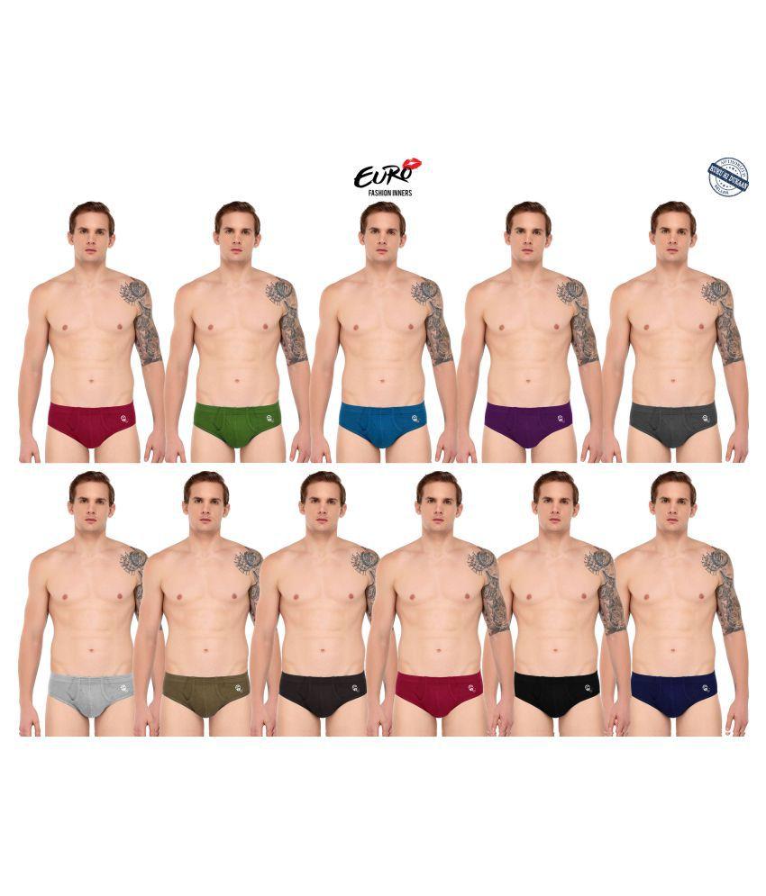 EURO FASHION Multi Brief Pack of 11