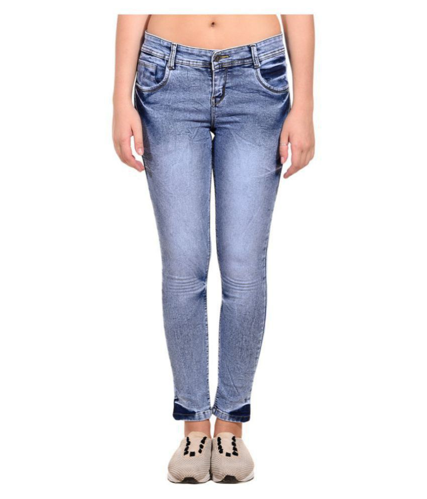 Fourgee Denim Lycra Jeans - Blue