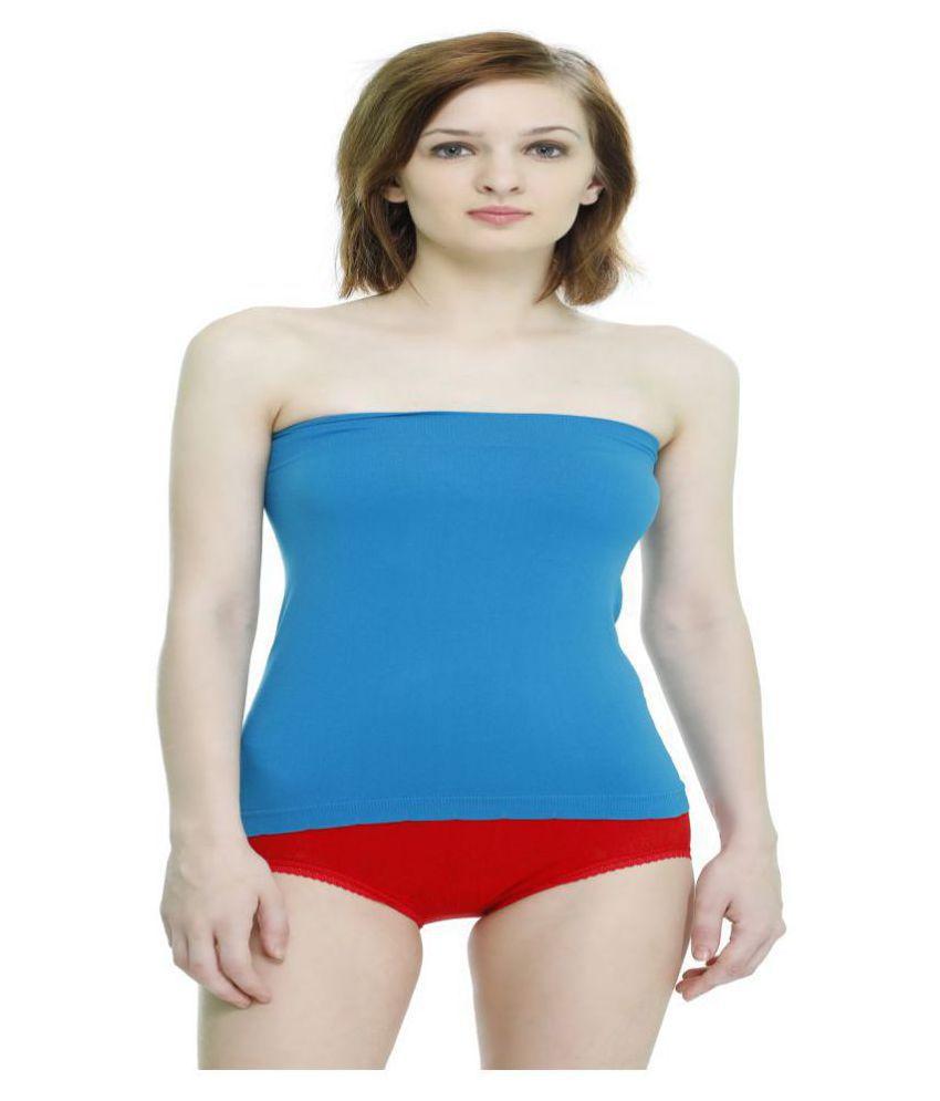 GIRLSZ Cotton Lycra Tube - Blue