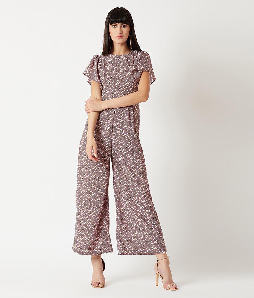 Miss Chase Multi Color Crepe Jumpsuit