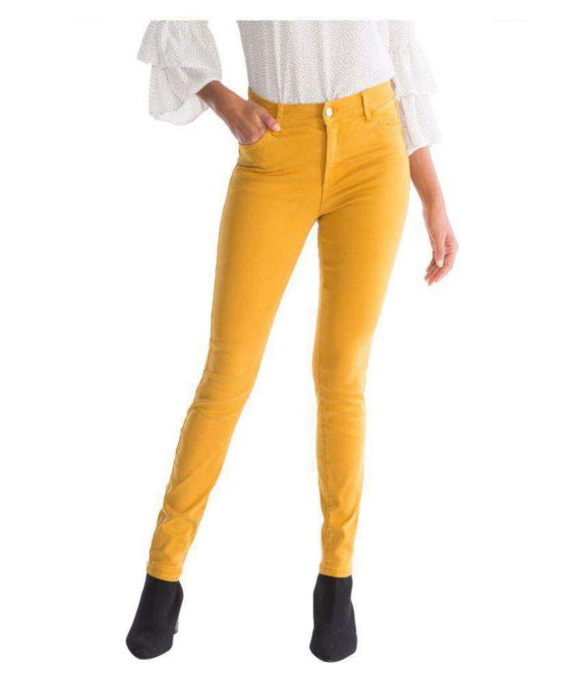 Timbre Denim Lycra Jeans - Yellow