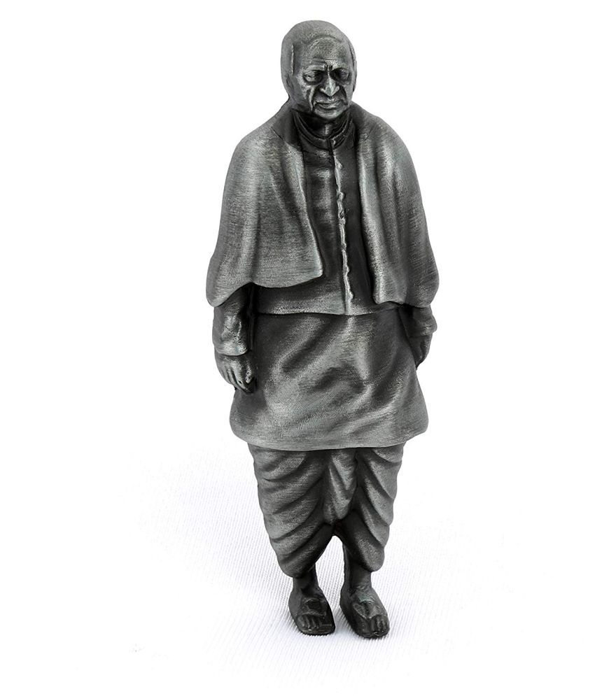 Tarang Alloy Statue Of Unity sardar patel Wall Sculpture Silver - Pack of 1