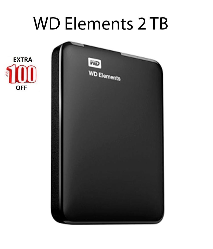 WD Elements 2 TB External Hard Drive