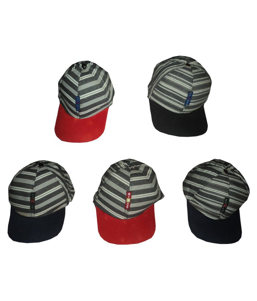 A&H Baby Caps For Baby Boys & Baby girls  2-3 Years Soft  Printed Cotton Baby Caps  For summer Season -  Multi color  ( Set of 5 Pcs )