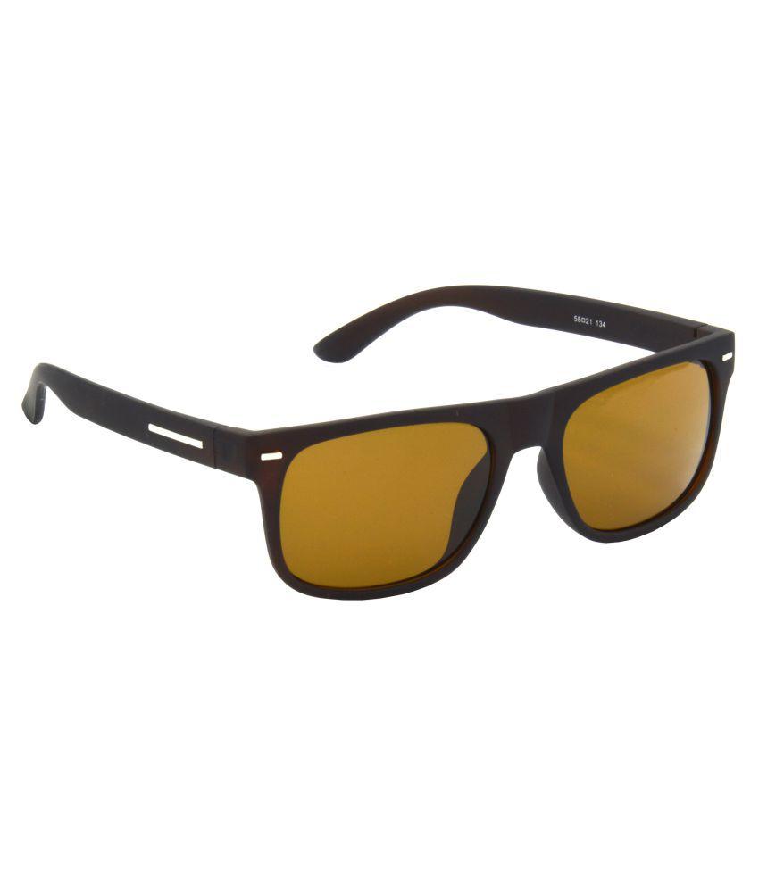 Hrinkar Brown Rectangle Sunglasses ( HRS489-BWN-BWN )
