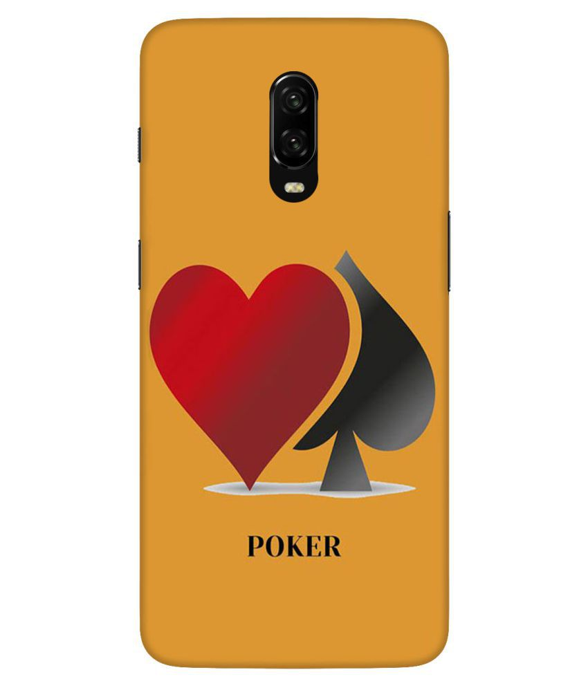 OnePlus 7 Printed Cover By Digi Swipes The Poker Mobile Back Cover and Cases Raised Lip for screen protection.