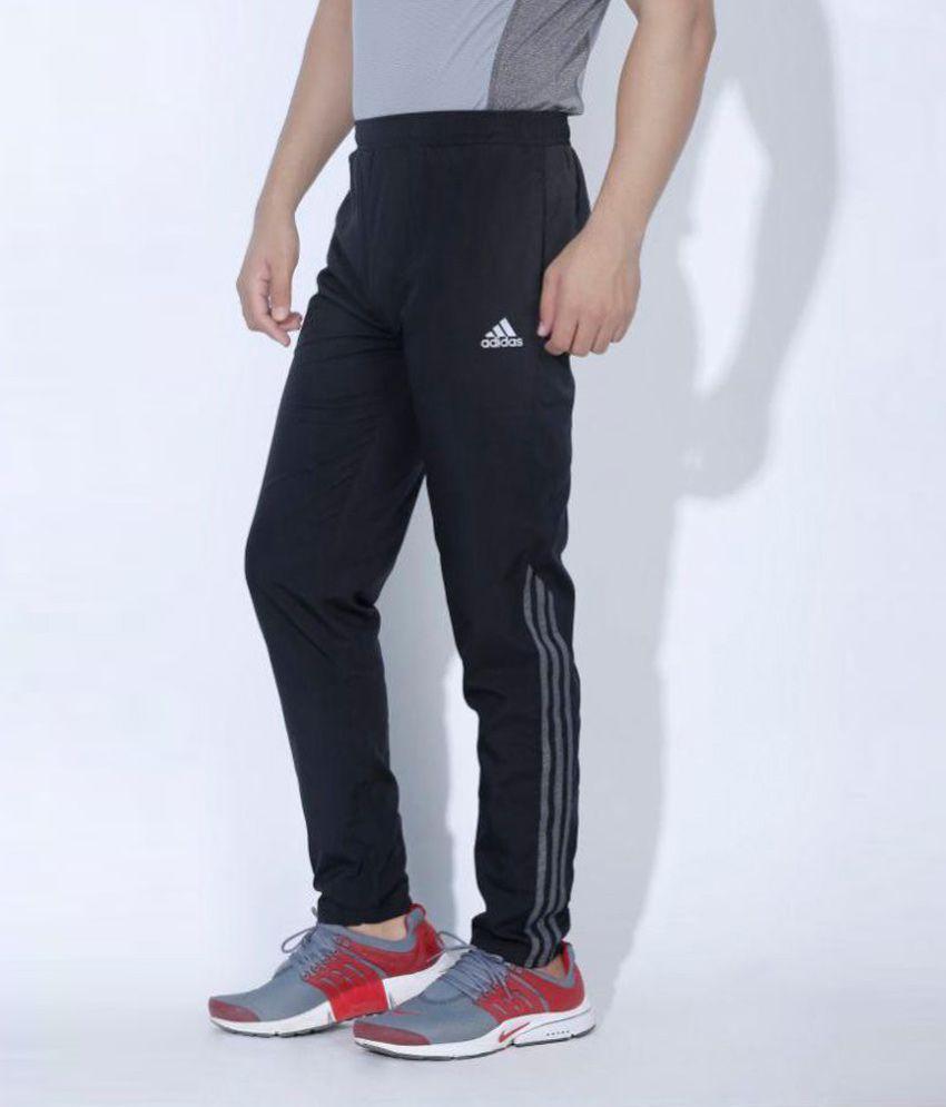 acb1896e8c8 Adidas Climacool Black Polyester Track Pants