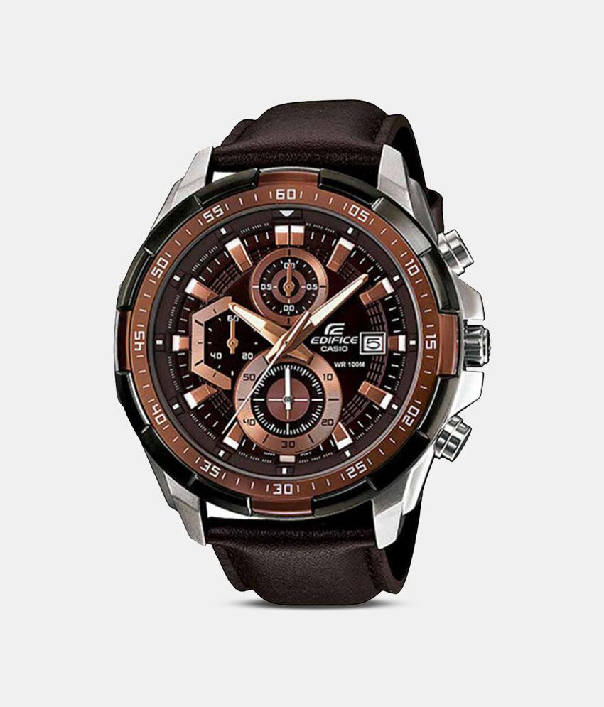 38c800fe8f1379 Men Fashion EX194 Brown Leather Strap Analog Watch - Buy Men Fashion EX194  Brown Leather Strap Analog Watch Online at Best Prices in India on Snapdeal