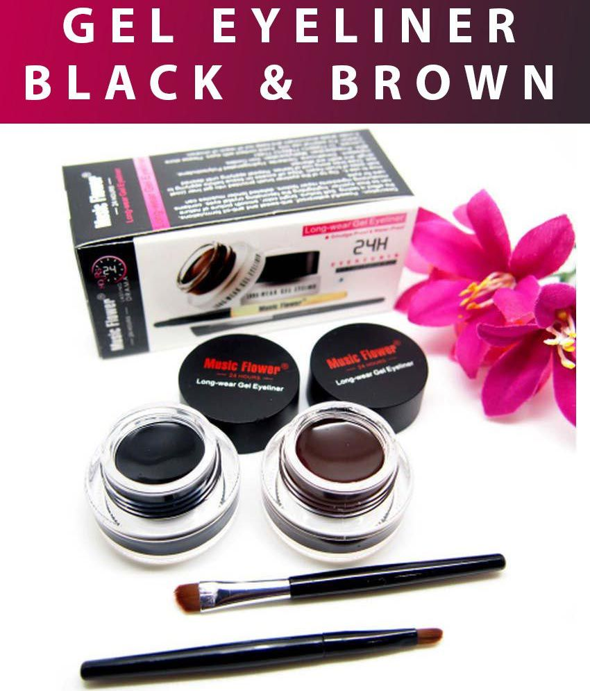 Music Flower Gel Eyeliner Black & Brown