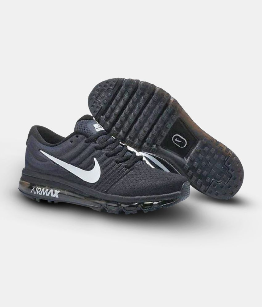 size 40 6a3c3 b2cda Nike Air Max 2017 Black Running Shoes - Buy Nike Air Max ...