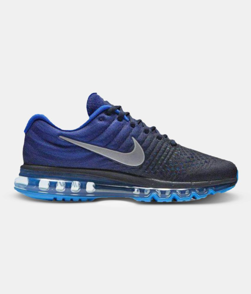 newest 3d095 29a88 Nike Air Max 2017 Blue Running Shoes ...