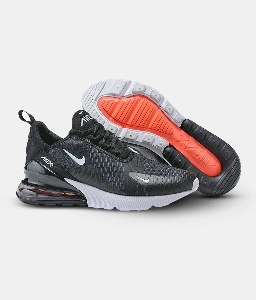 more photos 46730 9c9f0 Nike Air Max 270 Black Running Shoes - Buy Nike Air Max 270 Black Running  Shoes Online at Best Prices in India on Snapdeal