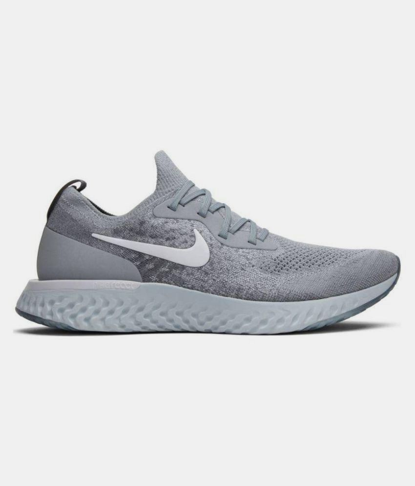 size 40 03ad3 65a70 Nike EPIC REACT FLYKNIT Grey Running Shoes - Buy Nike EPIC REACT FLYKNIT  Grey Running Shoes Online at Best Prices in India on Snapdeal