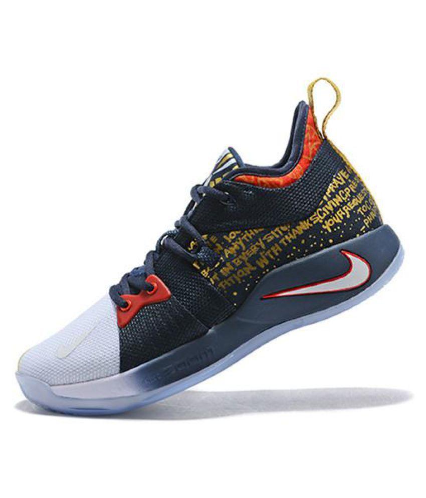 best website ebb85 873f2 Nike Pg 2 blue gold Midankle Male Blue
