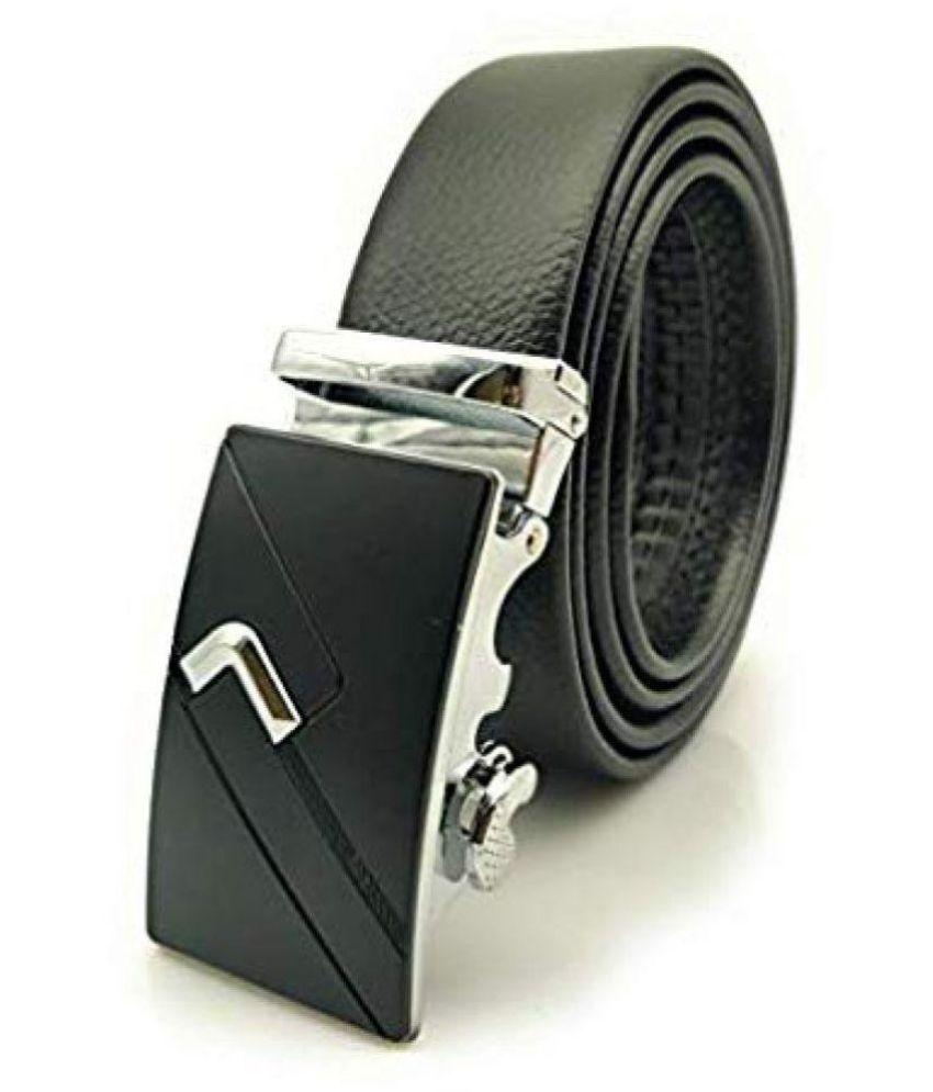 Satyam Kraft Black PU Formal Belt