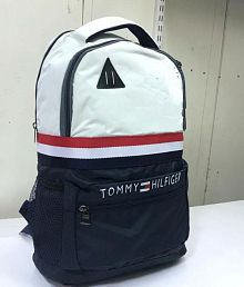 TOMMY White Polyester College Bag