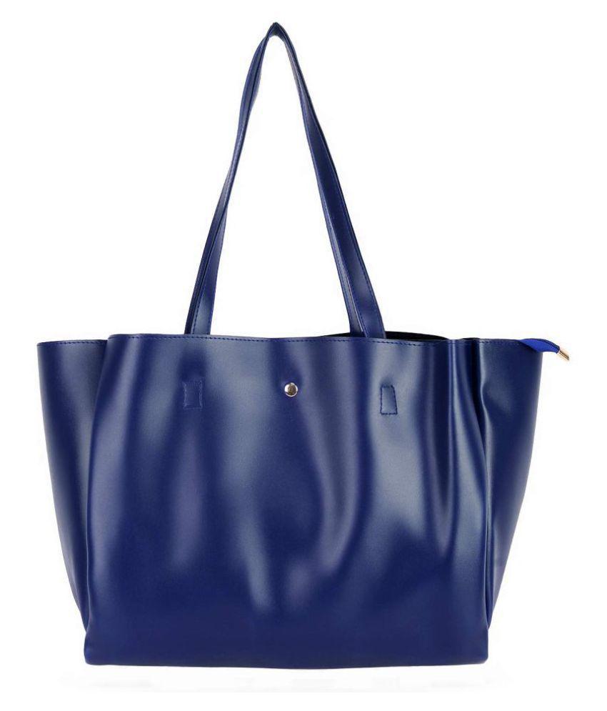 don cavalli Blue P.U. Shoulder Bag