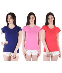 b74a5512 Women's Tees & Polos: Buy T-shirts for Women Online at Best Prices ...