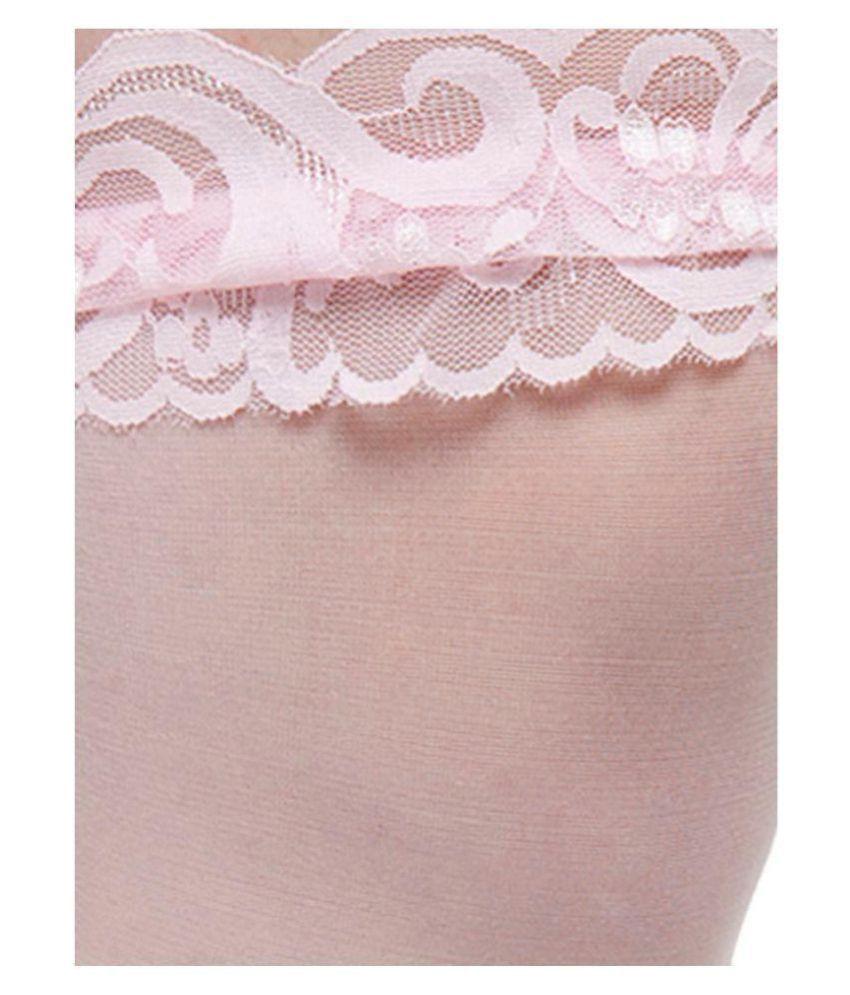 ed2aedd53b5ad N-Gal Set of 2 Lace Top Sheer Thigh-High Women Stockings: Buy Online ...
