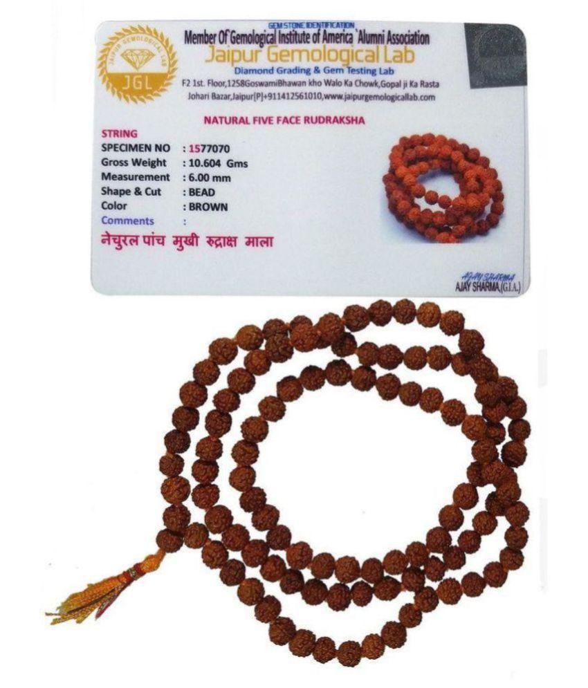 Original-lab-certified-nepal 5 face Rudraksha mala 7.00 -8.00 mm size108 quality beads