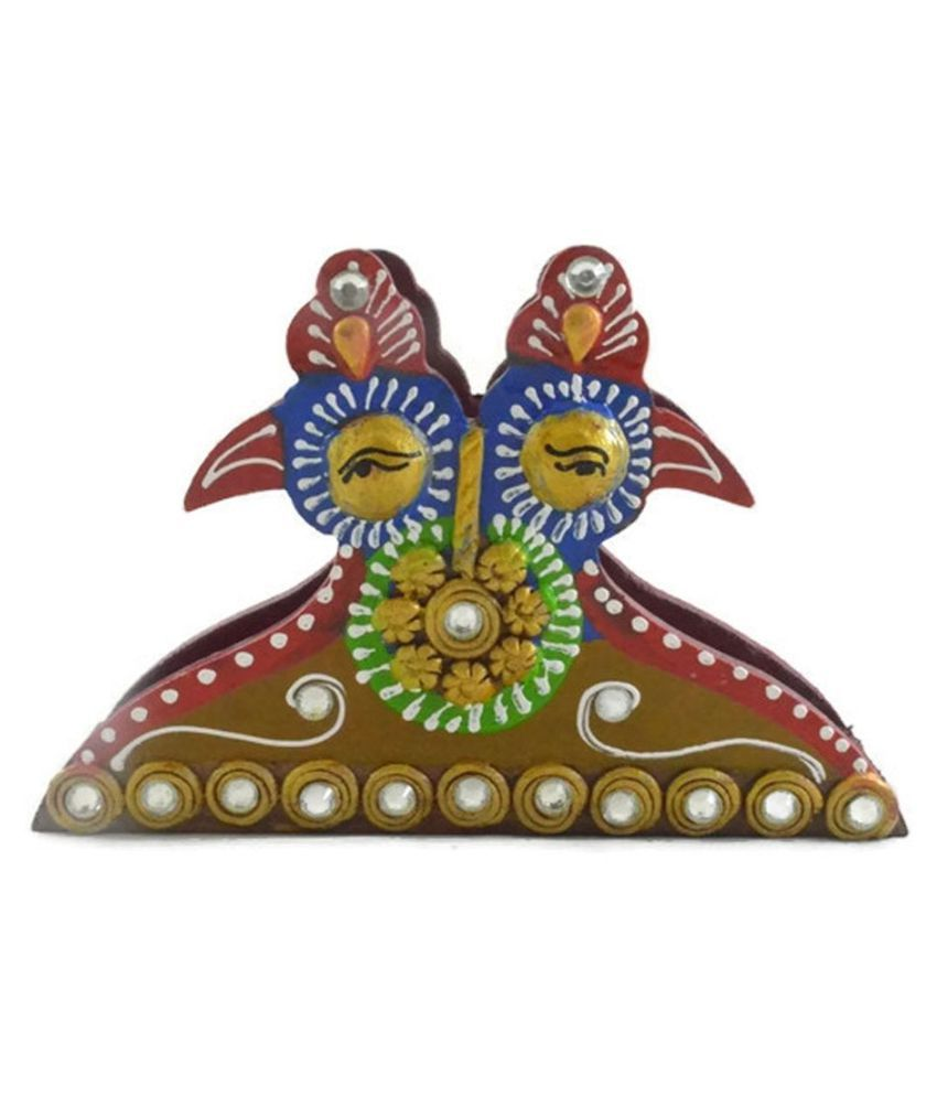 Jaipur Handicrafts Multicolour Wood Decorative Box - Pack of 1