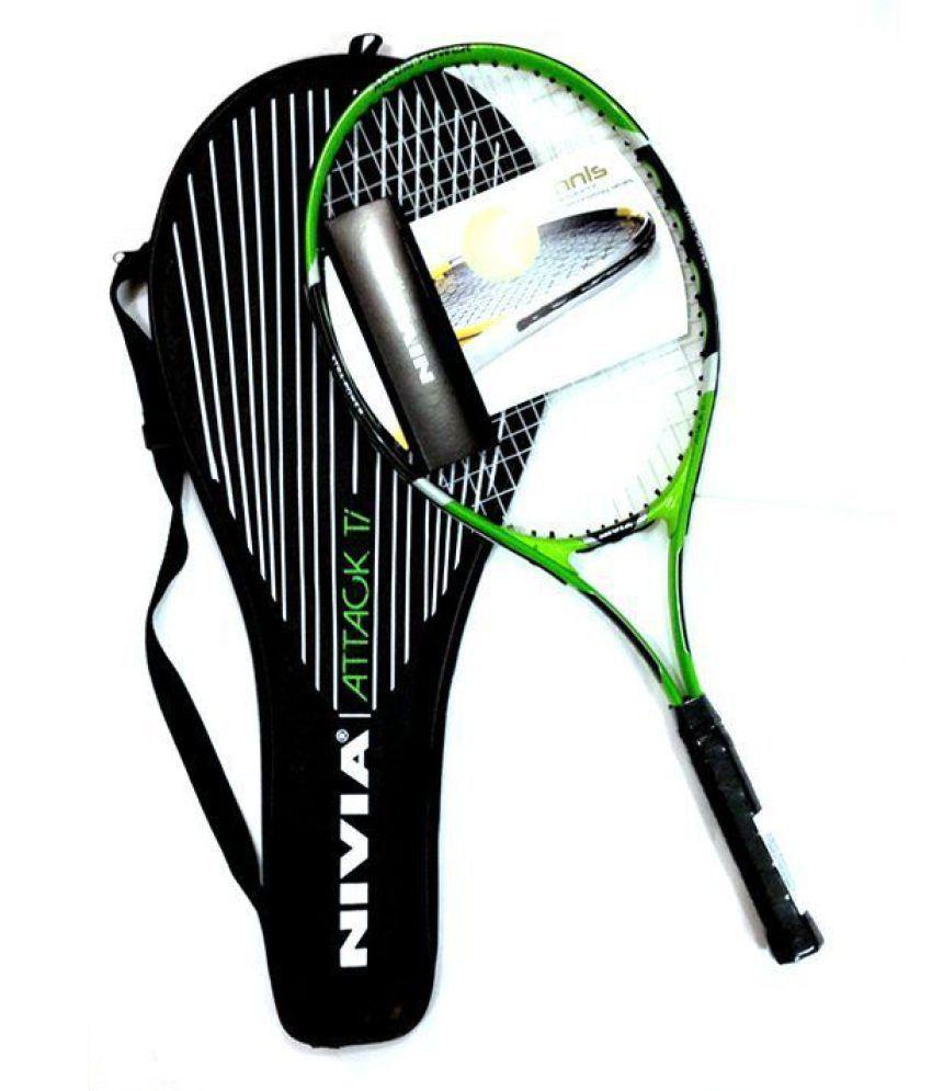 Nivia Attack Ti Tennis Racket Nivia Tennis Racquet Green