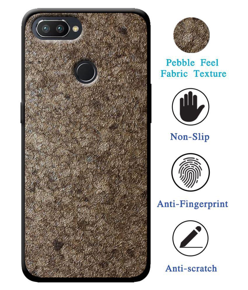 RealMe 2 Pro Soft Silicon Cases Cellmate - Golden Stylish Texture Pattern Soft Fabric TPU