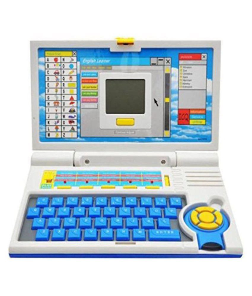 CRAZY TOYS English Learner Educational Laptop Toy